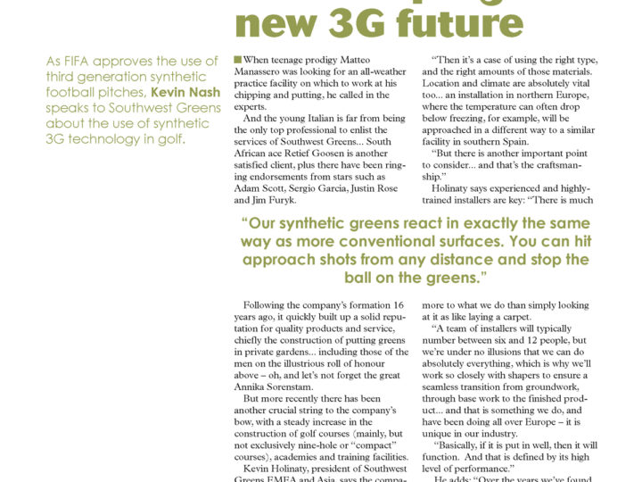 SWG Shaping a New 3G Future